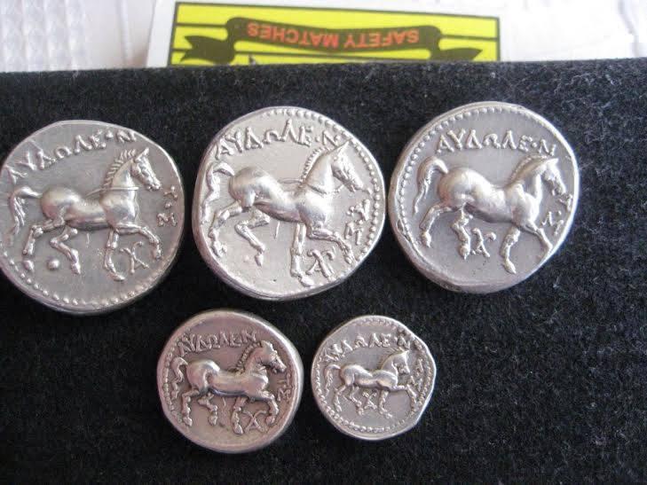 monnaies argent grecques trouvées avec detecteur teknetics g2