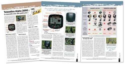 test magazine, avis detecteur teknetics alpha 2000