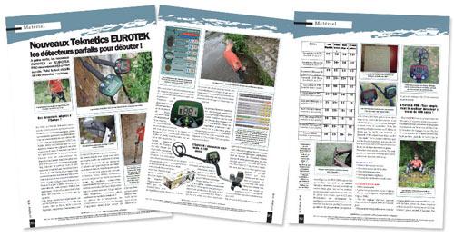 test détecteur de métaux teknetics eurotek PRO