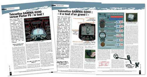 test détecteur de métaux gamma 6000